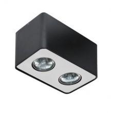 Nino lampa sufitowa 2x50W GU10 230V czarna/aluminium