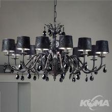 Acantia lampa wisząca żyrandol 12x40W E14 230V czarny