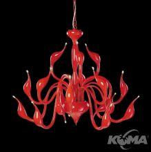 Swan oprawa wiszaca G4 18x20W czerwona