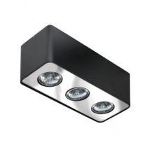 Nino lampa sufitowa 3x50W GU10 230V czarna/chrom