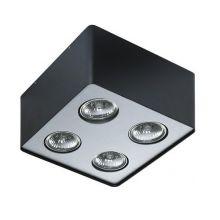 Nino lampa sufitowa 4x50W GU10 230V czarna/aluminium
