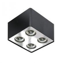 Nino lampa sufitowa 4x50W GU10 230V czarna/chrom