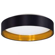 Maserlo oprawa sufitowa  czarna/złota 24W LED 3000K