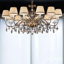 Primadonna lampa wisząca żyrandol 12x40W E14 230V stare złoto