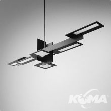 Oledrian next 120 plus lampa wisząca 36W OLED 3000K CRI>90 230V aluminium (mat)