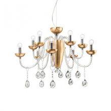Camelia lampa wisząca 10x40W E14 230V złota