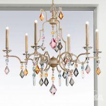 Lizzi lampa wisząca żyrandol 6x60W G9 230V kość słoniowa/blade złoto