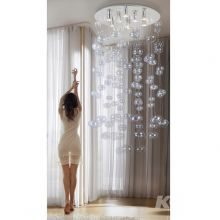 Luvia 125 XL Clear lampa wisząca 9x40W GU10 230V transparentna / chrom