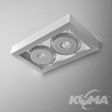 Cadra 111x2 QRLED kinkiet 16W LED 3000K 24° 230V biały mat