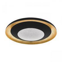 Canicosa plafon czarny/złoty 24,5W led 2700-6500K 3000lm CRI>80 ściemnialny