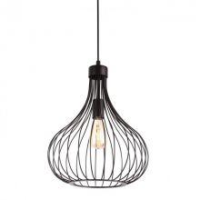 Onion lampa wisząca 1x60W E27 230V czarna