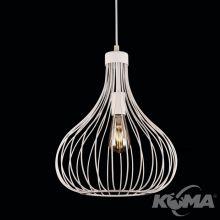 Onion lampa wisząca 1x60W E27 230V biała