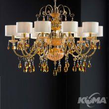 Antika lampa wisząca żyrandol 10x40W E14 230V antyczne złoto