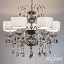 Antika lampa wisząca żyrandol 5x40W E14 230V antyczne srebro