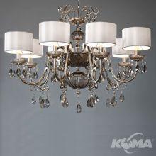 Antika lampa wisząca żyrandol 8x40W E14 230V antyczne srebro