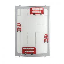 London Bus kinkiet do pokoju dziecięcego 1x60W E14 230V biały + czerwone elementy