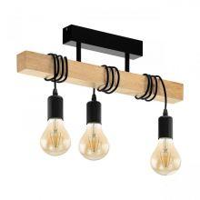 Townshend lampa wisząca czarna/brązowa 3x60W E27