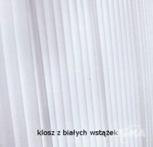 Carlota doble kinkiet 1x60W E27 skora cuir wstazka biala