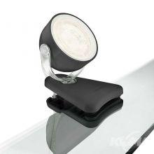 Dyna lampa stołowa na klipsa 3W LED 230V czarna