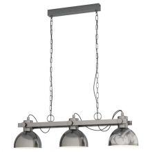 Lubenham lampa wisząca nikiel 3x28W E27