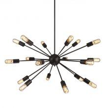 Orbit lampa wisząca 18x60W E27 230V czarna