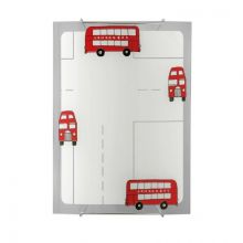 London Bus kinkiet do pokoju dziecięcego 1x100W E27 230V biały + czerwone elementy