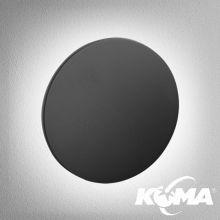 Maxi_point kinkiet wpuszczany  G/K 4W LED 2700K czarny struktura