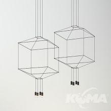 Wireflow square lampa wisząca 4x4,5W led 2700K czarna