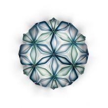 La_vie kwiat życia plafoniera niebieska  2x12W E27