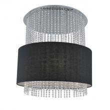 Glamour lampa wisząca 5x40W E14 230V czarna