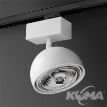 Glob reflektor na szynoprzewód biały (mat) 1x50W AR111 230V