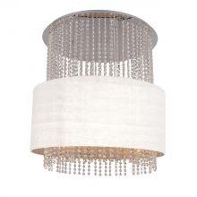 Glamour lampa wisząca 5x40W E14 230V biała