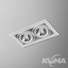 Squares 70x2 led lampa wpuszczana 24,5W  3000K 51° 230V biała mat