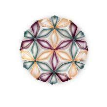 La_vie kwiat życia plafoniera multigreen  2x12W E27