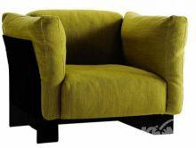 Pop duo fotel 94x94x70 czarny/zielony