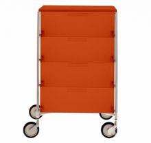 Mobil szafka na kolkach 4sz 49x47.5x78cm pomaranczowy