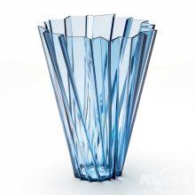 Shanghai wazon d35cm h44cm niebieski