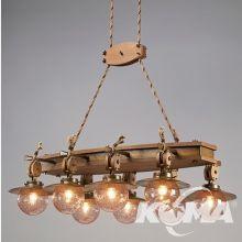 Cadernal lampa wisząca z akcentem marynistycznym  8x42W E27 brąz ziemisty + klosz 44