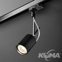 Petpot Fine reflektor na szynoprzewód czarny (mat) 1x50W GU10 230V