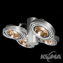 Optique A41 reflektor G53 4x50W C01 - aluminium