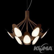 Peacock lampa wisząca żyrandol 12x4,5W LED 3000K 230V mosiądz