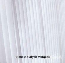 Carlota lampa podlogowa 1x60W E27 skora cuir wstazka biala