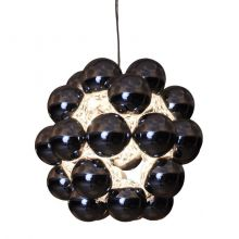 Beads lampa wisząca 1x100W E27 230V czarny chrom