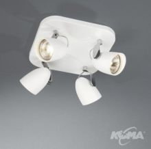CATALPA plate/spiral white 4x75W 230V