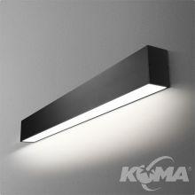 Set Tru kinkiet 29cm. 6.2W LED 230V czarny (mat) neutralna barwa CRI>80