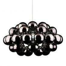Beads 77 lampa wisząca 1x100W E27 230V czarny chrom