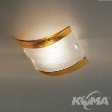 Radius plafon ambra/krystaliczny szkło weneckie 4x40W E14