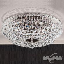 Sheraton plafon sufitowy Ø45cm patyna kryształ SCHÖLER CRYSTAL® 6x40W E27 230V