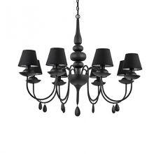 Blanche lampa wisząca 8x40W E14 230V czarna