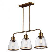 Hobson1 lampa wisząca mosiądzowana śr 35cm 3x75W E27